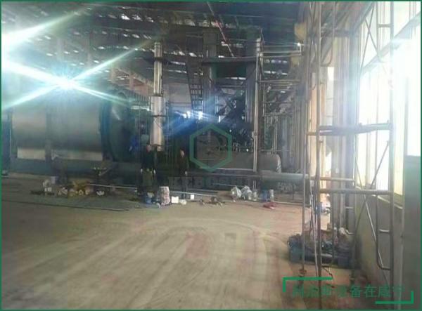 咸宁5台废轮胎炼油设备成功落户