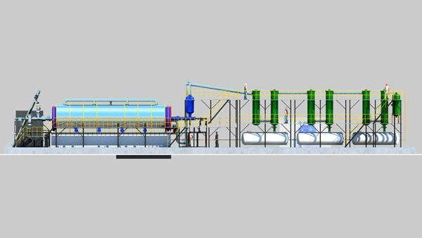 科泊斯2020新型环保废轮胎炼油设备,配置工艺说明