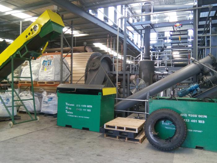连续式废轮胎热裂解设备